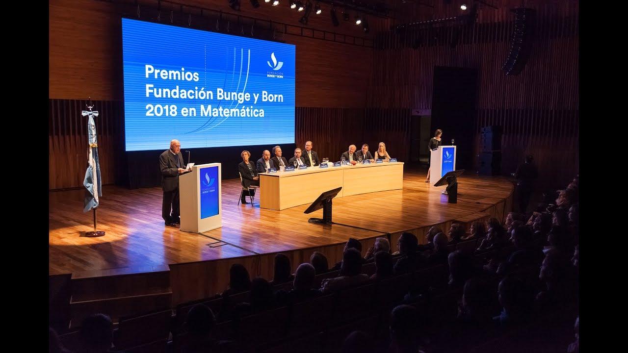 Premios Fundación Bunge y Born 2018 en Matemática - CCK
