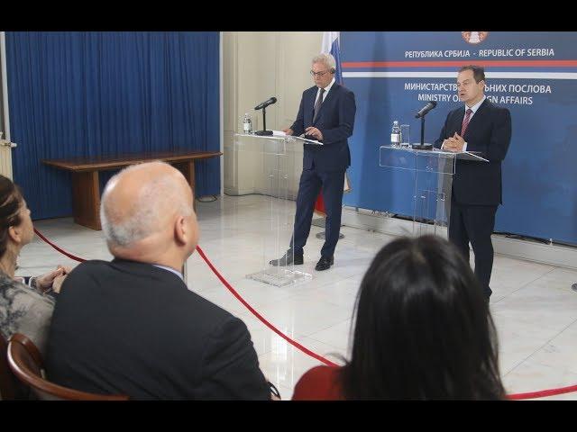 [29.11.2019.] Министар Дачић и заменик МИП Русије на конференцији за новинаре