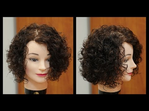 Women's Medium Length Haircut for Curly Hair