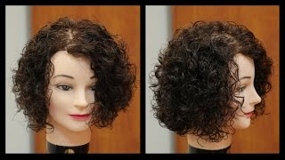 Women's Medium Length Haircut for Curly Hair - TheSalonGuy