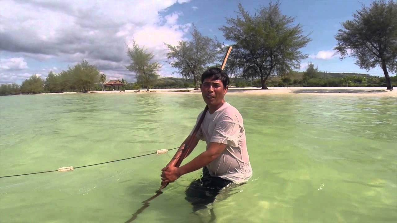 Fischen in Kambodscha - YouTube