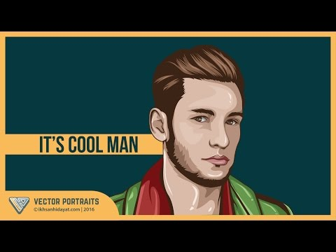 Tutorial Vector Portraits - its cool man (Using Adobe Illustrator cc.2015)