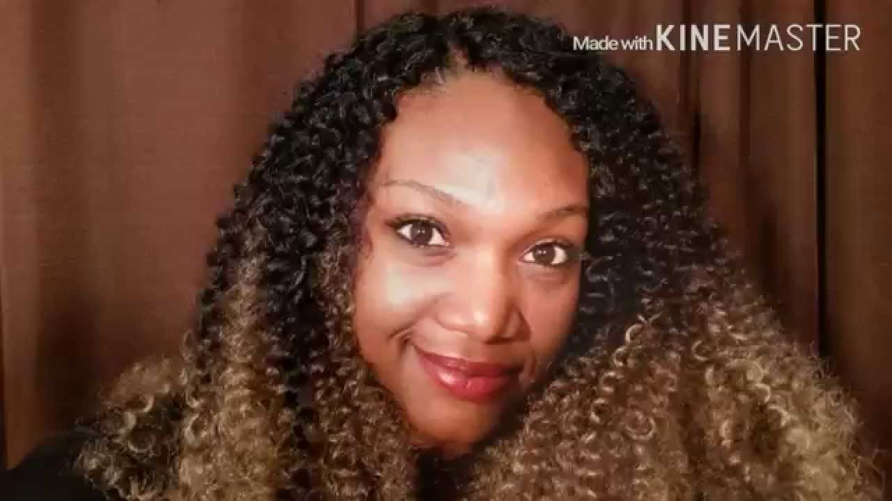 Invisible part crochet braids using freetress water wave youtube ccuart Gallery