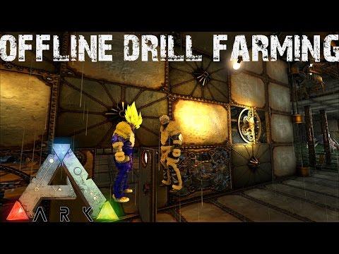 ARK Survival Evolved - Offline Drill Farming and Warden Nilloc! Annunaki Genesis Modded S1E24