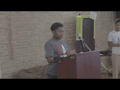 A clip of Blue1647 summer Robotics Student presenting
