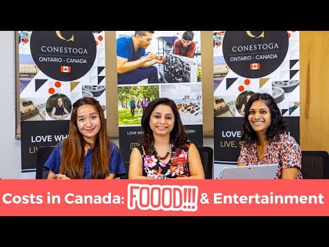 Costs In Canada: Food And Entertainment