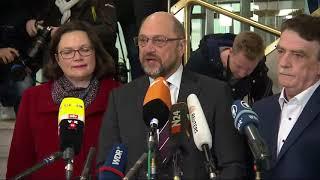 SPD-Parteichef: Martin Schulz wirbt für Koalitionsverhandlungen mit der Union