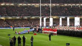 Wales v Scotland  National Anthems 2012 six nations rugby