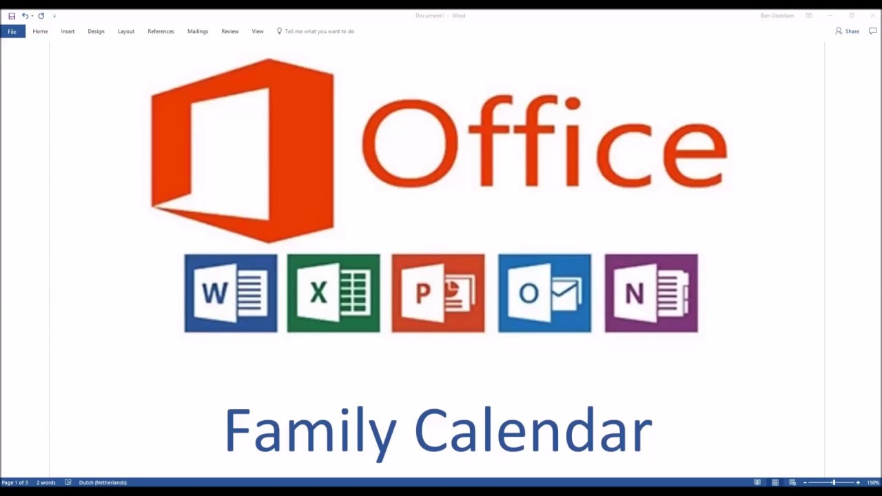 Office 365 - Shared Family Calendar