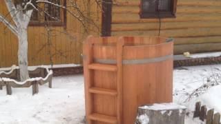 Овальная уличная купель из кедра для бани.(, 2016-12-04T19:34:43.000Z)