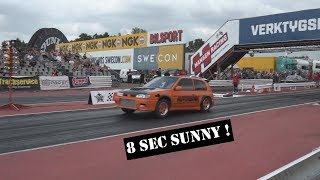 1000Whp Nissan Sunny/Pulsar Racing at Mantorp and Holeby