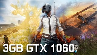 "3GB GTX 1060 Gaming \ 17 Games in 10 Min \ ""PUBG"" ""F1 2017"" and More"