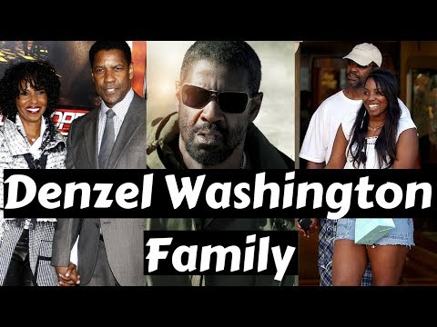 Actor Denzel Washington Family Photos with Spouse, Daughter, Son, Childhood Picture
