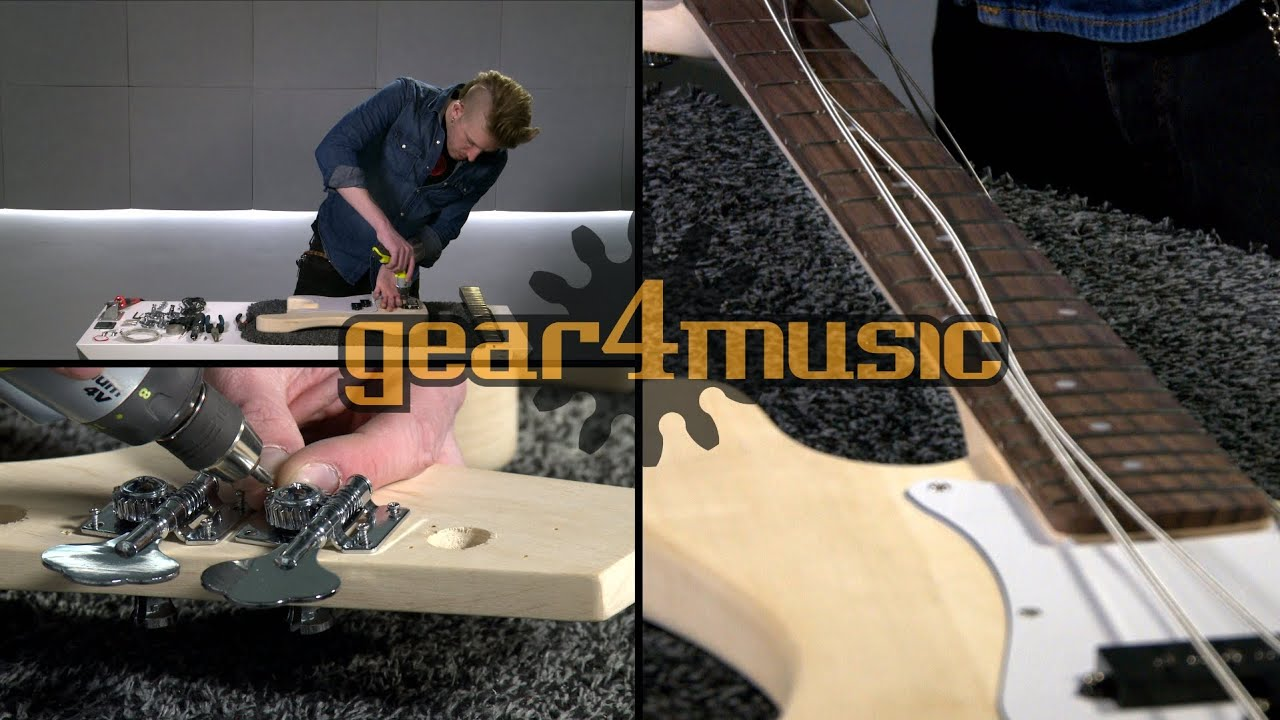 la j electric bass guitar diy kit youtube. Black Bedroom Furniture Sets. Home Design Ideas