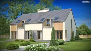 Проекты Z500 - проект дома на две семьи Zb4