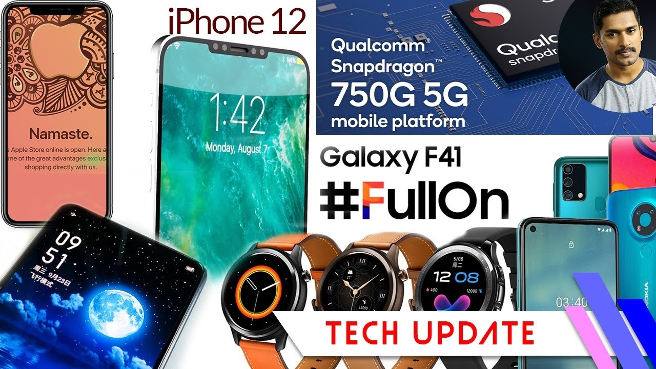 Tech Update:Under display camera phone from Realme,Samsung F41 launch date,Apple store,Nokia3.4 etc.