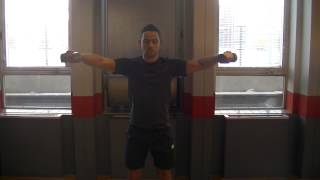 Lateral raise front raise combo DB