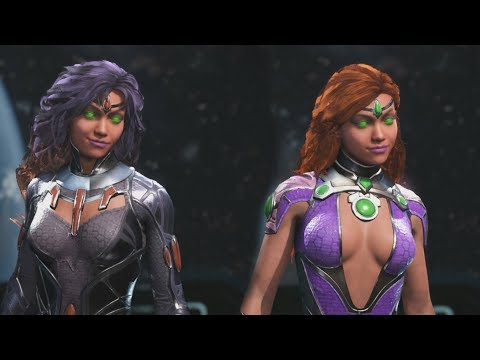 Injustice 2 - Starfire All Epic Gear Sets, All Abilities and All Shaders