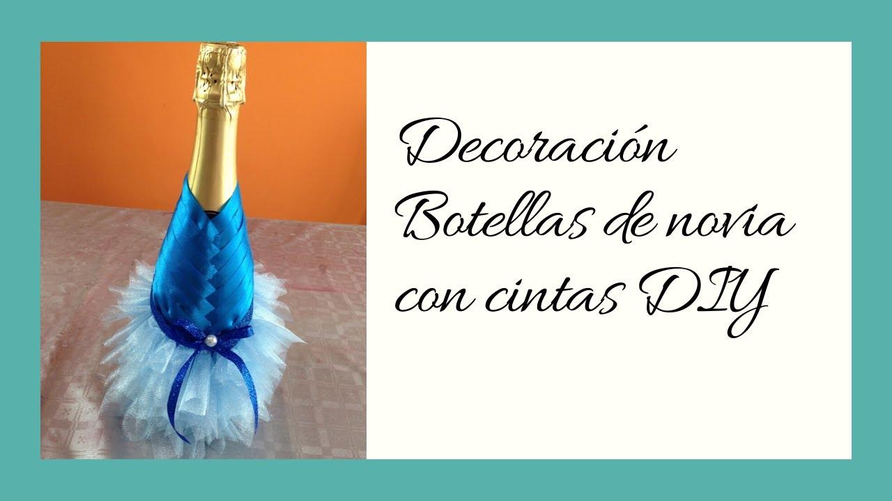 Decoraci n botella de novia wedding decoration bottle - Decoracion de botellas ...