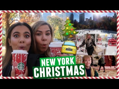 CHRISTMAS IN CENTRAL PARK, PLAZA HOTEL, AND NYC SHOPPING!!