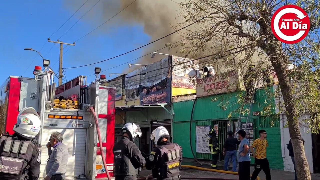 Incendio en comercio moviliza a bomberos
