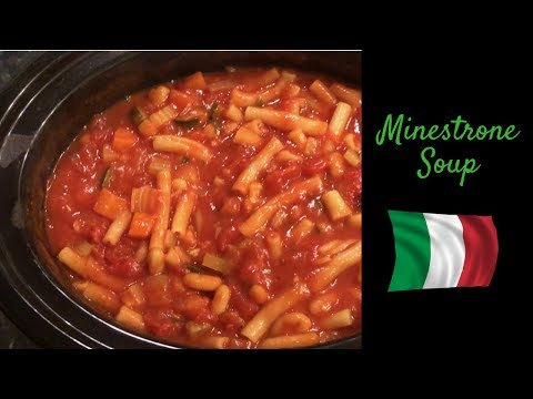 Easy Slow Cooker Minestrone Soup :) Cook With Me