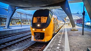 Train Cab Ride NL / Flower Fields And Winter / Amsterdam - Den Haag / VIRM Intercity / April 2021