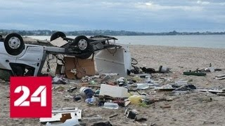 Смертельный шторм: на греческом полуострове Халкидики объявили ЧП - Россия 24