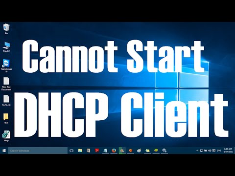 Cannot Start DHCP Client Service in Windows 10