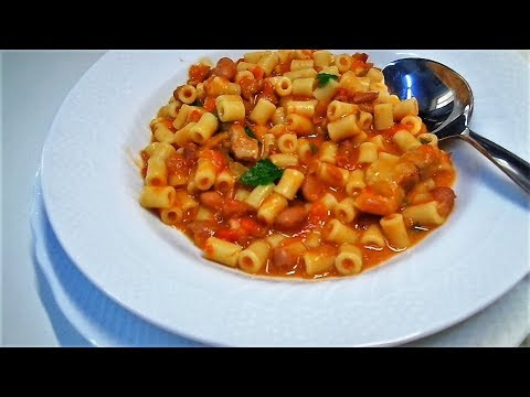 Фасоль Рецепты. Паста с Фасолью по Итальянски - Pasta E Fagioli