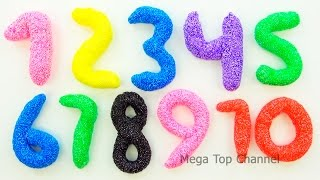 Learn To Count 1 to 20 with PLAY-DOH and Squishy Glitter Foam Learn Colors Make Numbers Counting