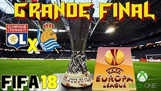 Final da uefa europe league 2018!!! modo carreira  #fifa18 -  ligue 1 #lyon ep 44 - xbox one