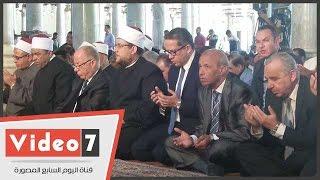 """بالفيديو.. وزراء الأوقاف والآثار والثقافة ومحافظ القاهرة يصلون الجمعة بـ""""عمرو بن العاص"""""""