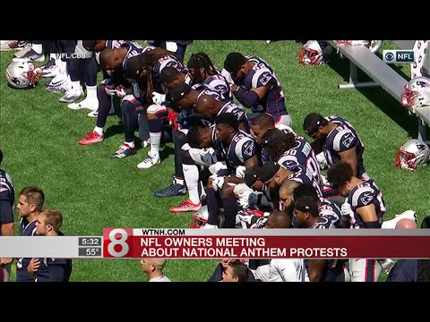 NFL owners meeting with players about national anthem protests - Dauer: 48 Sekunden