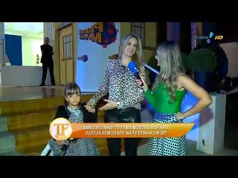TV Fama 09/06/2014 - Rafinha Justus Mostra A 'banguela' Ao TV Fama