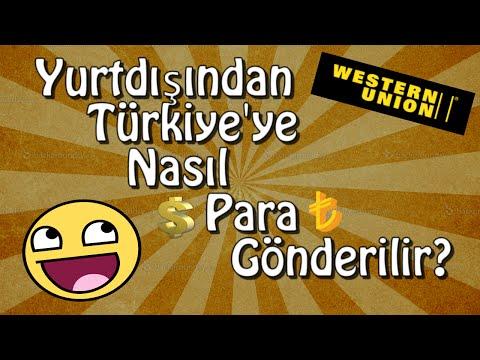 Yurtdışından Türkiye'ye Western Union ile Para Gönderme