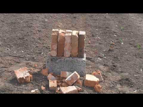 Стрельба из Тигра (7.62*54R) по кирпичам