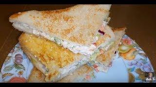 Yummy Chicken Salad Sandwich / Chicken and Veg Sandwich