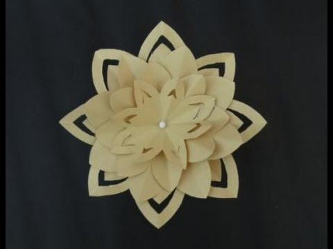 Paper crafts how to make a paper lotus flower youtube paper crafts how to make a paper lotus flower mightylinksfo Gallery