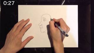 """I draw a picture in 1 minute. Today's theme is """"Albert Einstein"""". 1..."""