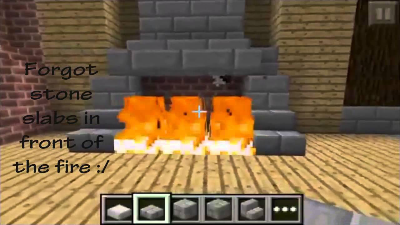 Minecraft PE Fireplace designs - YouTube