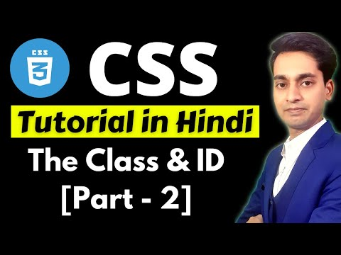 What Is CSS Id And Class Selectors | CSS Tutorial For Beginners In Hindi