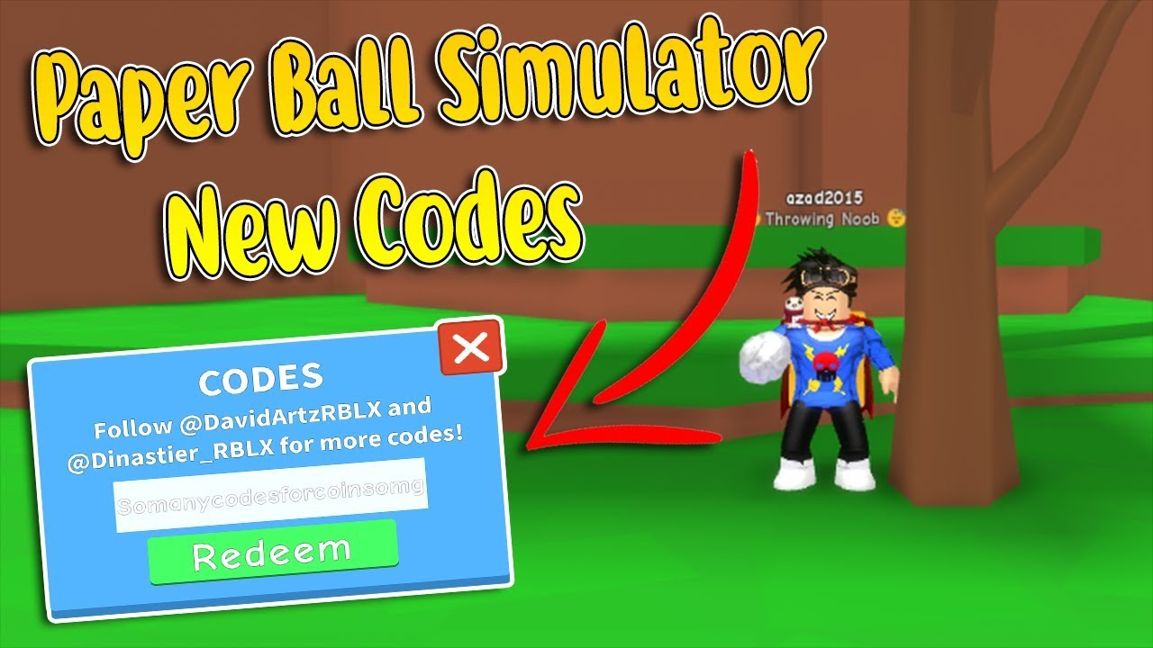 Papers Simulator Roblox Roblox Paper Ball Simulator All New Codes Youtube