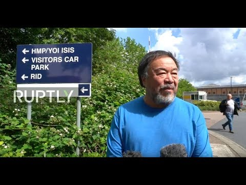 LIVE: Ai Weiwei visits Assange at Belmarsh prison: Stakeout