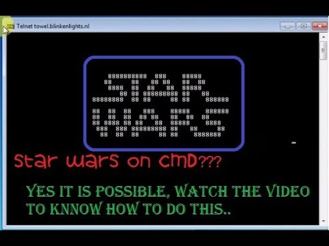 How to watch star wars in cmd in the form of ASCII text. - YouTube