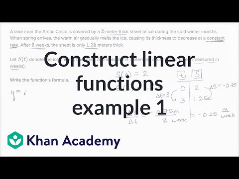 Constructing Linear Functions Example 1 | Algebra I | Khan Academy
