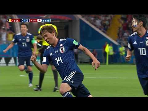 Este fue el segundo gol de Japón | Bélgica vs Japón