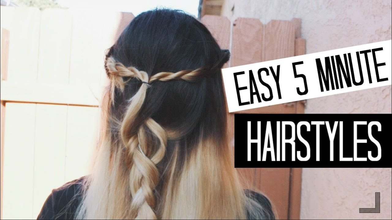 Hairstyles For Short Hair Under 5 Minutes: Easy 5 Minute Hairstyles For Back To School!