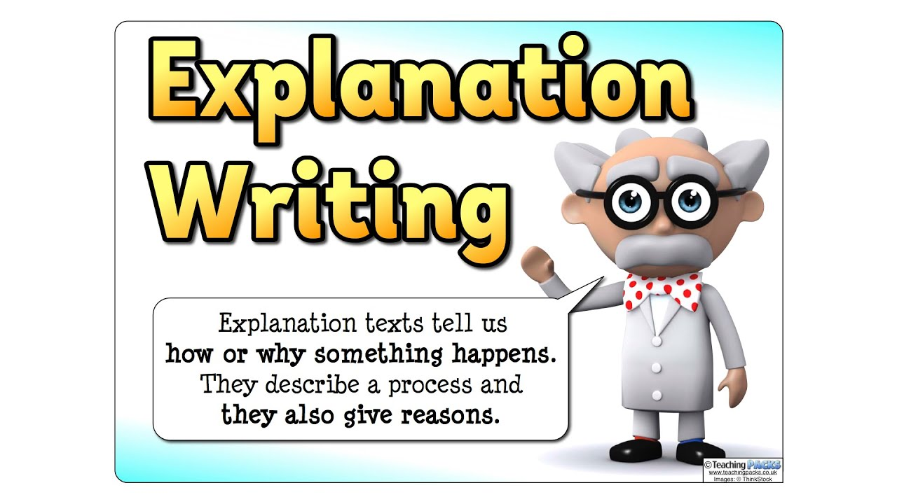 the explanation writing pack teaching resources youtube