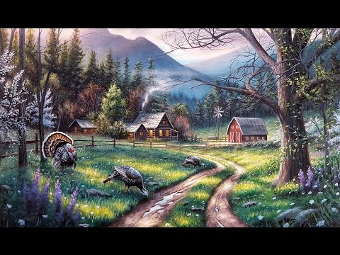 Fall Turkey Wallpaper Landscape Painting Time Lapse Springtime Wild Turkeys